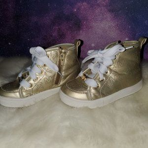 Girls Gold MK sneakers